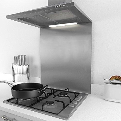 Brushed Stainless Steel Kitchen Splashbacks
