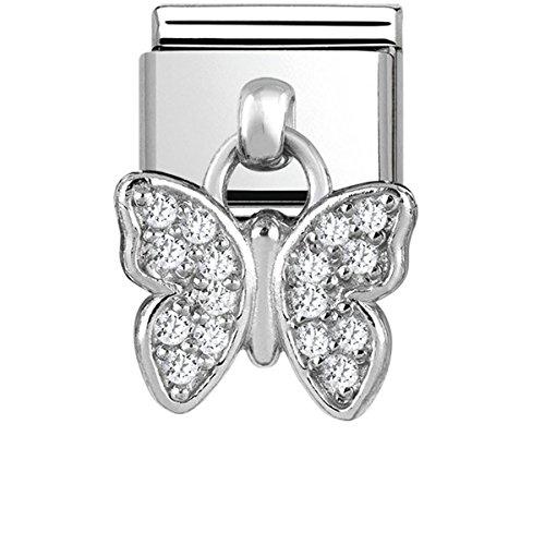 Nomination Damen-Charm 925 Silber Zirkonia weiß - 331800/16