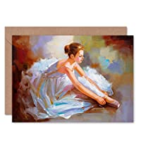 Fine Art Prints Ballet Dancing Shoes Painting Greeting Card With Envelope Inside Premium Quality