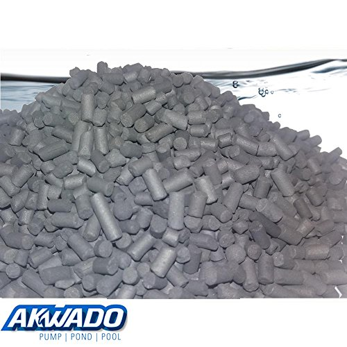 Akwado Aktiv-Kohle biologische Filterung 500g, klares gesundes Wasser im Aquarium (Tank Aktiv)