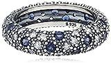 Pandora Damen-Ring 925 Silber Zirkonia blau Gr. 52 (16.6) - 190915NBC-52