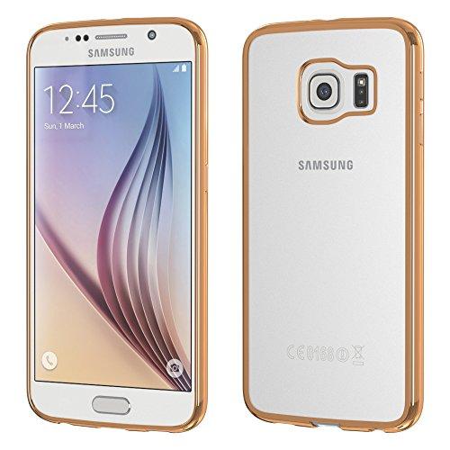 Samsung Galaxy J1 (2016) Hülle - EAZY CASE Chrom Cover Handyhülle - Schutzhülle aus Silikon in Metallic Silber Bronze