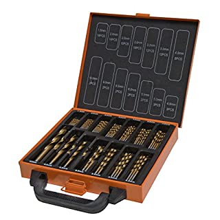 HSS-Bohrer Set-110Stück Titanium beschichtet in Metall Box-1,5-10mm