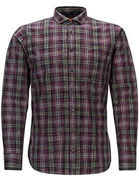BOSS ORANGE Slim-Fit-Hemd CATTITUDE aus Baumwolle mit Glencheck-Karo Farbe grün 640