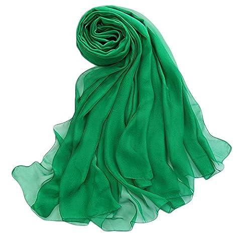 Yxzn Femme Écharpe en mousseline de soie, 10