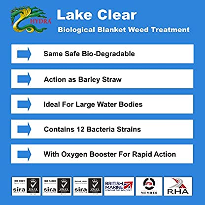 HYDRA Blanket Weed & String Algae Treatment for Lake and Larger Pond Water LAKE CLEAR 25KG 4