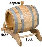 Hofmeister Holzwaren Bock für Bierfass aus Holz (10 Liter)