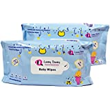 Lovey Dovey Baby Wipes Enriched With Aloevera & Vitamin E Set Of (160wipes)