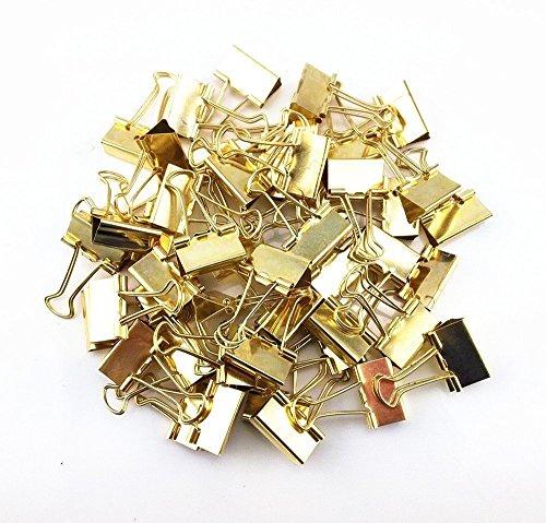 zhichengbosi tischrockhalter Metall binderclips, Büro Clips, Utility Papier Clips (Gold)