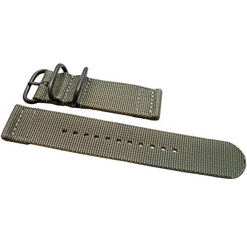 DaLuca a due pezzi in nylon balistico cinturino NATO - grigio (fibbia PVD):...