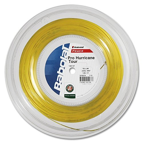 Babolat Pro Hurricane Tour Corde pour raquette de tennis (200 m), Color 3, 1,25 mm