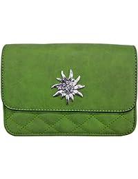 a0841ddd67b10 Trachtenland - Umhängetasche Gesteppt mit Edelweiß oder Hirsch Applikation  - Trachten Dirndl Handtasche