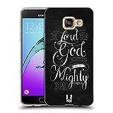 Head Case Designs Mächtig Bekannten Versen Aus Der Bibel Soft Gel Hülle für Samsung Galaxy A3 (2016)