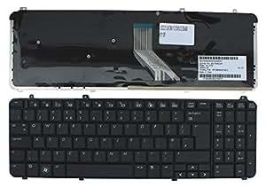 HP Pavilion DV6-1240EK Noir Layout Royaume-Uni Clavier pour ordinateur portable (PC) de remplacement