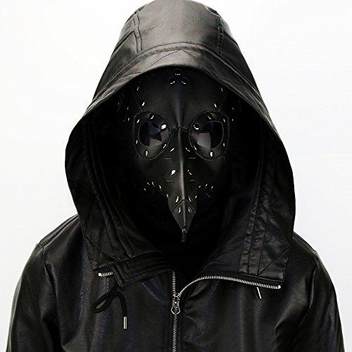 Halloween Pest-Maske Doktor Arzt Kopfmaske Steampunk Kostüm Zubehör für Erwachsene Halloween Party Fasching Karneval PU Leder (Kostüm Kind Alien Komplettes)