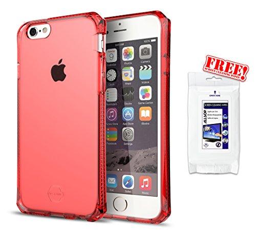 ITSKINS Iphone 6 Plus 6s Plus SPECTRUM Ultradünne Silikon Schutzhülle Transparent SPECTRUM Rot