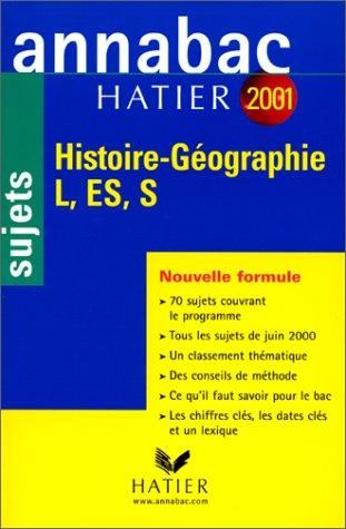 Histoire, géographie, L, ES, S