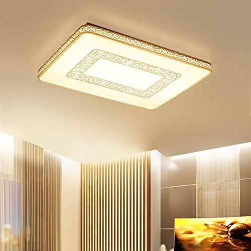 Shop 6 Deckenleuchte Acryl Deckenleuchte Augenschutz Acryl Super Dünne Led-Linse Quelle Quadratische Linse Quelle Schlafzimmer Licht 600 * 600 Mm Einfarbig Weißes Licht