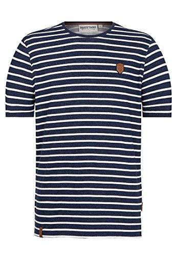 Naketano Male T-Shirt Ej, fickst du noch richtig??? Stripe Hype, L