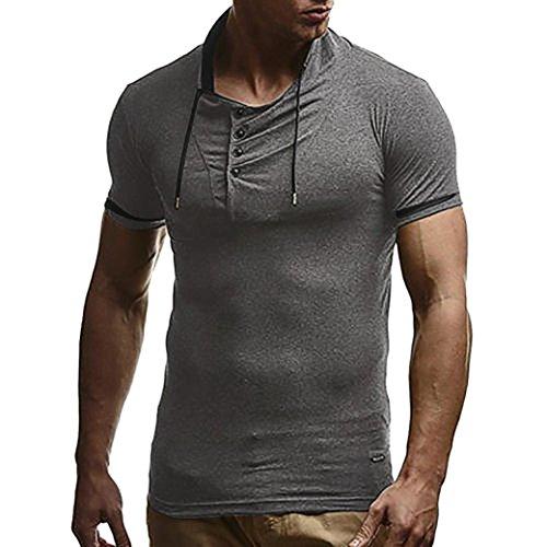Mädchen Für T-shirt Eminem (Kanpola Oversize Herren Shirt Slim Fit Rundhals Ausschnitt Basic Sweatshirt Vintage Kurzarm T-Shirt Tee Top)