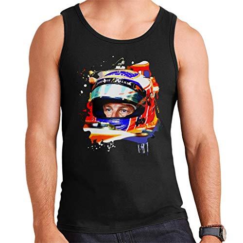 Motorsport Images Jenson Button McLaren MCL32 Monaco Helmet Shot Men's Vest -