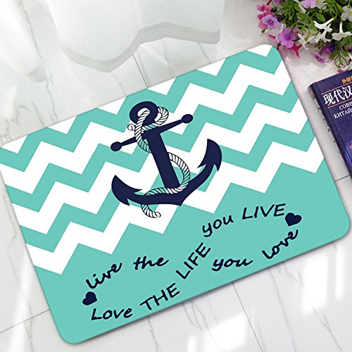 arine Boot Anker Stilvolle Dekorative Funky nautischen Fußmatte Crops Custom Indoor Outdoor Bodenmatten, Polyester, stil 3, 40 x 60 cm (Mothers Day-aufkleber)