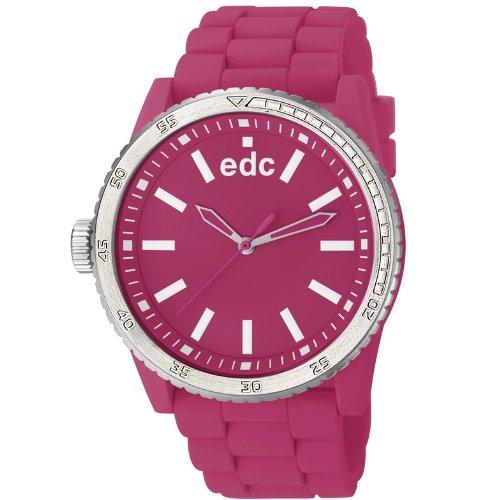 edc by Esprit rubber starlet EE100922012 - Reloj analógico de cuarzo para mujer, correa de plástico color rosa