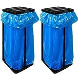 2x Deuba® Müllsackständer für Müllsäcke bis max. 60 LITER 3-fach höhenverstellbar - Müllsackhalter Abfallbehälter Müllbeutelhalter