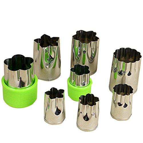 Aiming 8pcs / Set Edelstahl-Frucht-Blumen-Form-Cutter Salat Carving Gemüse Mold Küchenhelfer Plätzchen Fondant - Gurken-melonen-seife