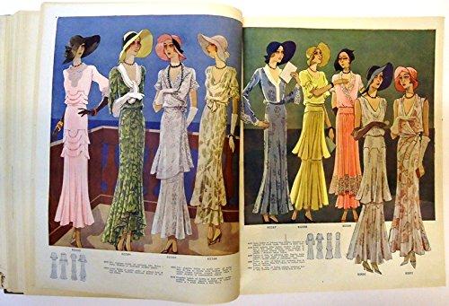 Zenski list za modu, zabavu i kucanstvo. Godina/Jg. 8 (1932), Heft 1-12 (OHNE 9). (30er Jahre Mode Kostüm)