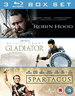 3 Film Box Set: Gladiator/Spartacus/Robin Hood [Blu-ray] (B006G4FXHO) | Amazon price tracker / tracking, Amazon price history charts, Amazon price watches, Amazon price drop alerts