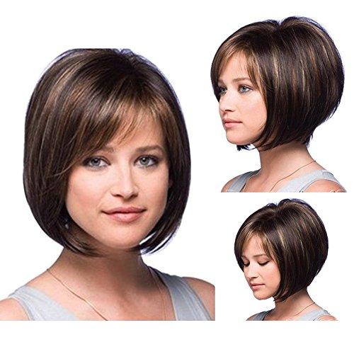 tonake Frauen Lady Bobo Perücke kurz gerade Haar Perücke neue, Stilvolle Oblique ()