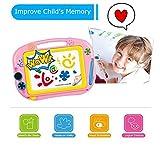 Noovo Magnettafel für Kinder Magnetische Maltafel Zaubertafeln für Kinder ab 3 Jahren - Pädagogische Magnettafel Spielzeug-Geschenk mit 2 Form-Stempeln