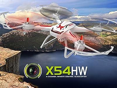 Drone Syma X54 Quadrocopter Quadcopter Camera - White by BSD