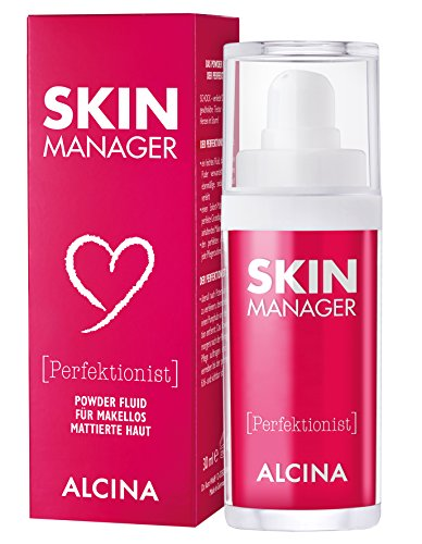 ALCINA Skin Manager Perfektionist, 1 x 30 ml - Powder-Fluid für makellos mattierte Haut -