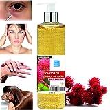 Olio de Ricino 100% Naturale 500 ml - Occhiaie Capelli Secchi Ciglia Unghie Cuticole Viso Corpo -...