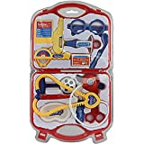 Doctor Play Set Little Leaf My Family Operated Mini Doctor Set, Multi Color(Red,Pink And Blue) (RED)