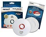 Detector de Humo VDS Nemaxx FL10, Alarma de Humo de Alta Calidad, Certificado Según los Estándares VDS y la Norma EN14604 - con Batería de Litio DE 10