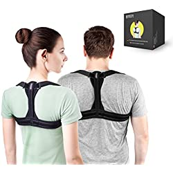 Modetro Sports Geradehalter zur Haltungskorrektur inkl. eBook für eine Gesunde Haltung, ideal zur Therapie für haltungsbedingte Nacken, Rücken und Schulterschmerzen