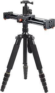Cacagoo Cs V500 Ausziehbar 50 Cm Video Slider Dolly Kamera
