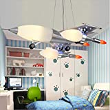 YHDEN Creativo di lusso guarnire regalo per bambini camera da letto elegante arte del fumetto aerei Lampadario size:680*550*1000(mm)