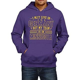 Vikings Mein Team Premium Hoodie   Minnesota   Football-Hoodie   Sport   Herren   Kapuzenpullover, Farbe:Lila;Größe:XXL