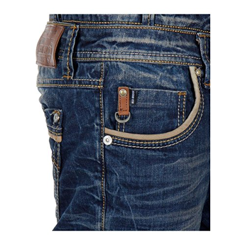 Red Bridge Homme Jeans / Jeans Straight Fit Two Waist Bleu