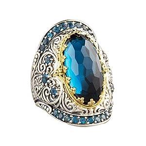YSoutstripdu Klassischer Ring, oval, Zirkonia, luxuriös, für Partys, Mann und Frau, Schmuck