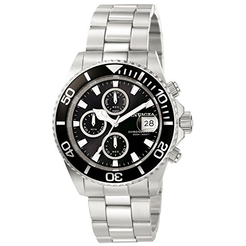 Invicta 1003 Pro Diver  Men's Wrist Watch Stainless Steel Quartz Black Dial