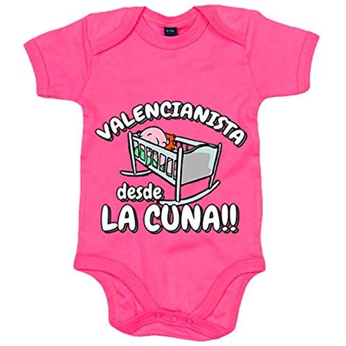 Body bebé Valencianista desde la cuna Valencia fútbol - Rosa, 6-12 meses