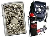Zippo Knk Sonderedition + Zippo POUCH mit Zippo Zubehör und L.B Chrome Stabfeuerzeug (mit LOOP Black Pouch)