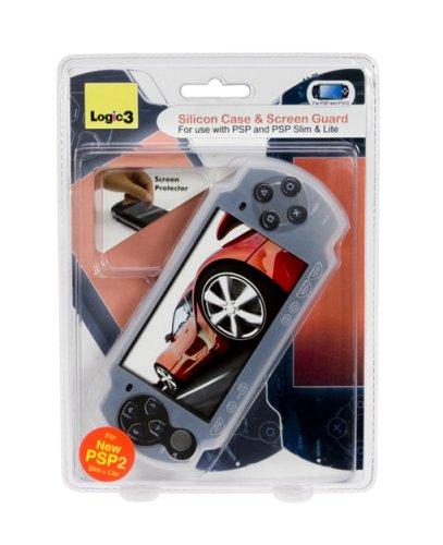 PSP Slim&Lite - Silicon Case transparent + Screen Guard Case Screen Guard
