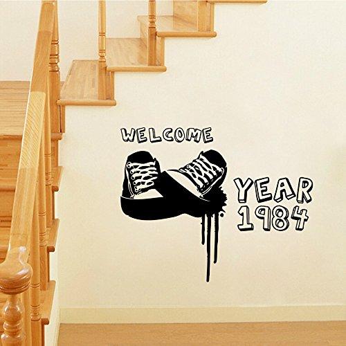 e geschnitzt personalisierte Wandaufkleber Wohnzimmer Schlafzimmer dekorative Wandaufkleber Großhandel anpassbare abnehmbare 42 * 53cm ()