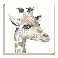Evans Lichfield Safari Giraffe Grey Gold Mink Canvas Wall Art Picture 40cm from Evans Lichfield